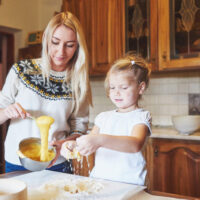 Baking delicious Muffins with fun activities grows our kids' patience + step-by-step MATH comprehension!